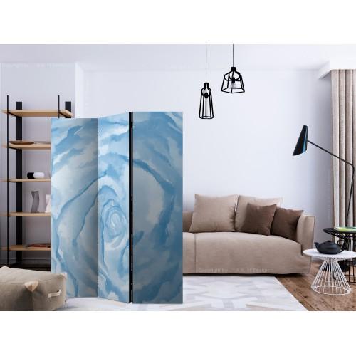 Paravento - rose (blue) [Room Dividers] - Quadri e decorazioni