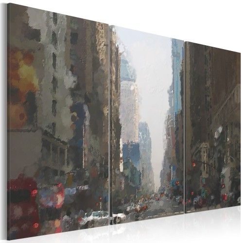Quadro - Rainy city behind the glass - Quadri e decorazioni