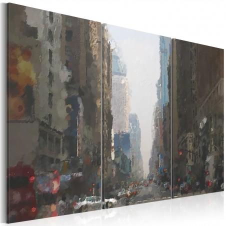 Quadro - Rainy city behind the glass - Quadri e decorazioni