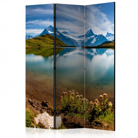 Paravento - Lake with mountain reflection, Switzerland [Room Dividers] - Quadri e decorazioni