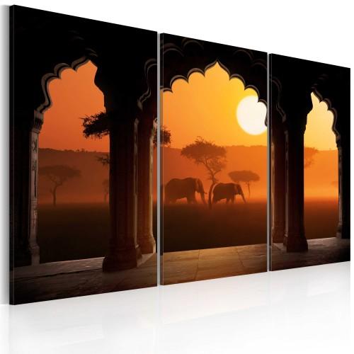 Quadro - Africa tranquilla - trittico - Quadri e decorazioni