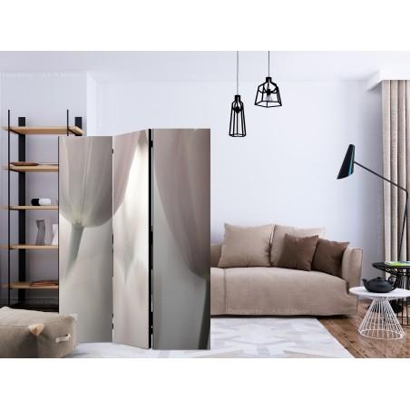 Paravento - Tulips fine art - black and white [Room Dividers] - Quadri e decorazioni
