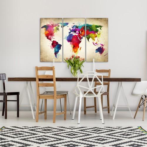 Quadro - Continenti d'arcobaleno - Quadri e decorazioni