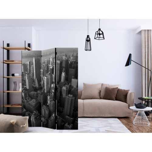 Paravento - New York: skyscrapers (bird's eye view) [Room Dividers] - Quadri e decorazioni