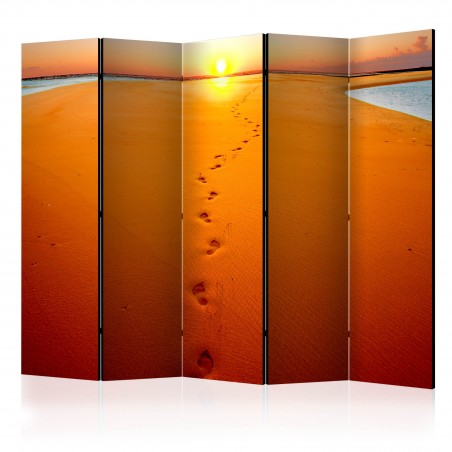 Paravento - Footprints in the sand II [Room Dividers] - Quadri e decorazioni