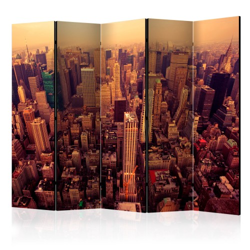 Paravento - Bird Eye View Of Manhattan, New York II [Room Dividers] - Quadri e decorazioni