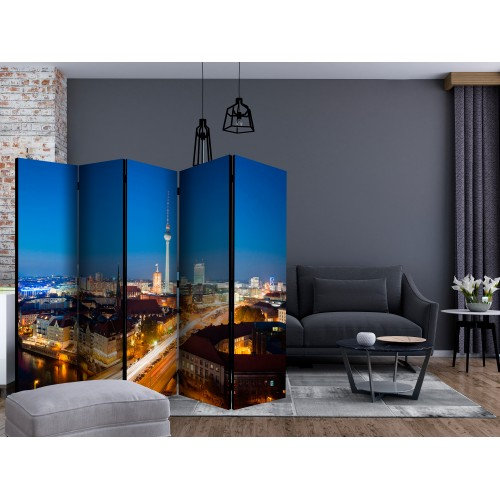 Paravento - Berlin by night II [Room Dividers] - Quadri e decorazioni