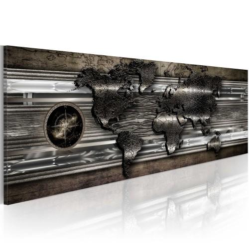 Quadro - Mappa metallica - Quadri e decorazioni