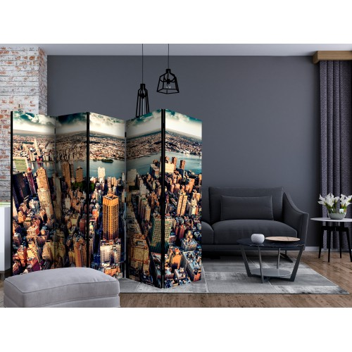 Paravento - Bird's Eye View of New York II [Room Dividers] - Quadri e decorazioni