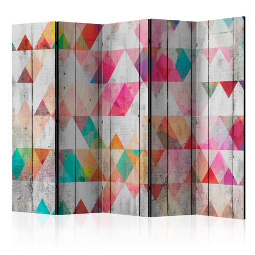 Paravento - Rainbow Triangles II [Room Dividers] - Quadri e decorazioni
