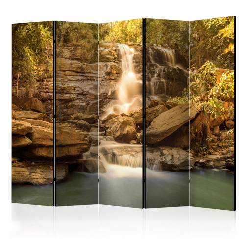 Paravento - Sunny Waterfall II [Room Dividers] - Quadri e decorazioni