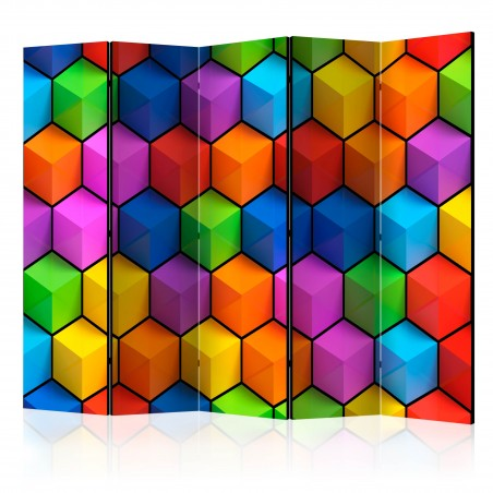 Paravento - Rainbow Geometry II [Room Dividers] - Quadri e decorazioni