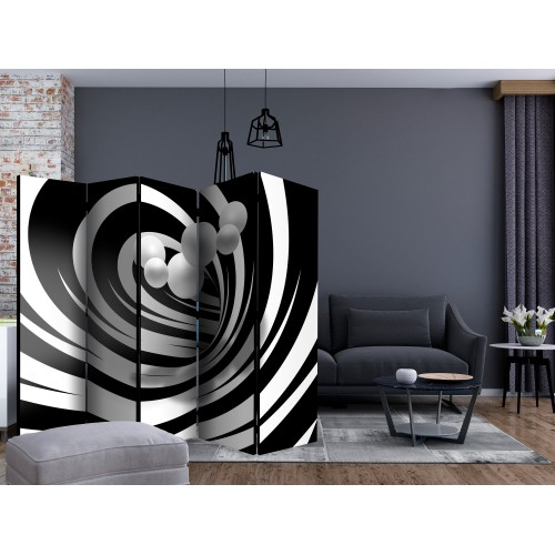 Paravento - Twisted In Black & White II [Room Dividers] - Quadri e decorazioni