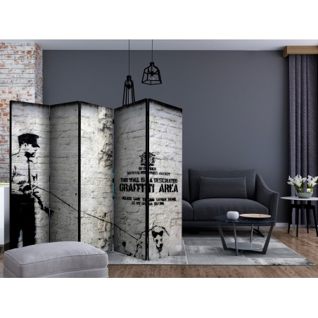 Paravento - Banksy - Graffiti Area II [Room Dividers] - Quadri e decorazioni