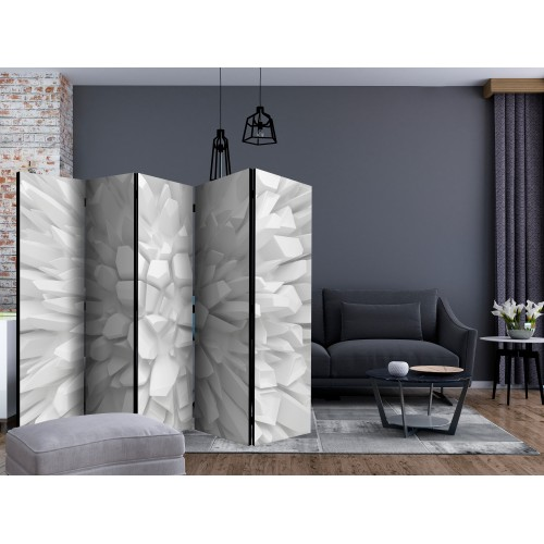 Paravento - White dahlia II [Room Dividers] - Quadri e decorazioni