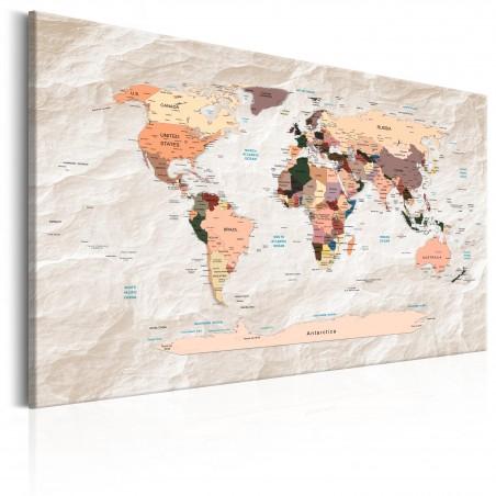Quadro - World Map: Stony Oceans - Quadri e decorazioni