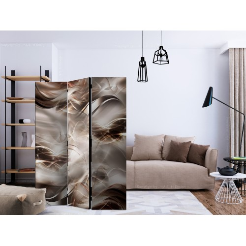 Paravento - Umber Waves [Room Dividers] - Quadri e decorazioni