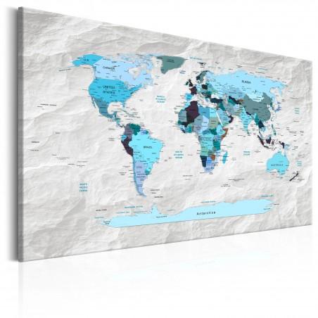 Quadro - World Map: Blue Pilgrimages - Quadri e decorazioni