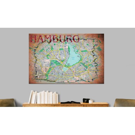Quadro - Map of Hamburg - Quadri e decorazioni