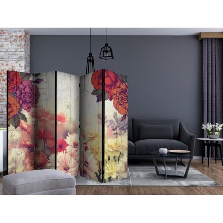 Paravento - Vintage Flowers II [Room Dividers] - Quadri e decorazioni