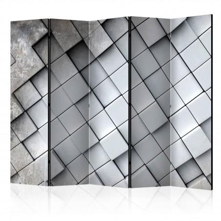 Paravento - Gray background 3D II [Room Dividers] - Quadri e decorazioni