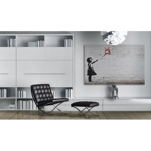 Quadro - Bambina con televisore (Banksy) - Quadri e decorazioni