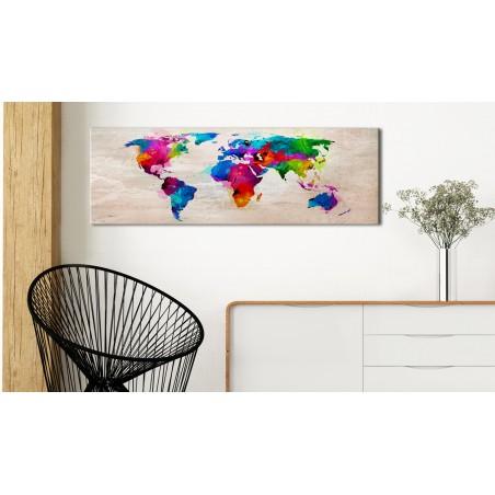 Quadro - World Map: Finesse of Colours - Quadri e decorazioni