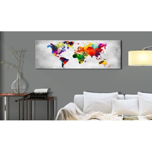 Quadro - World Map: Coloured Revolution - Quadri e decorazioni