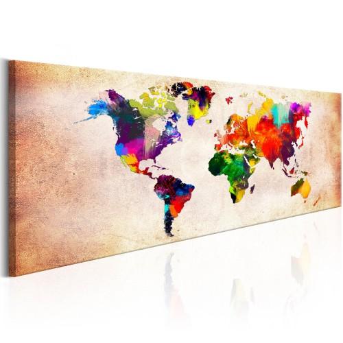 Quadro - World Map: Colourful Ramble - Quadri e decorazioni