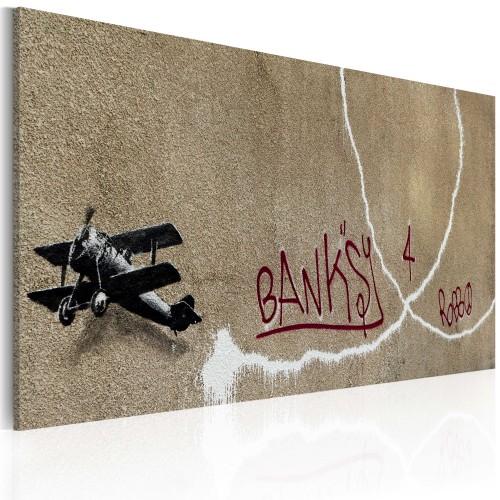 Quadro - Aeroplano d'amore (Banksy) - Quadri e decorazioni