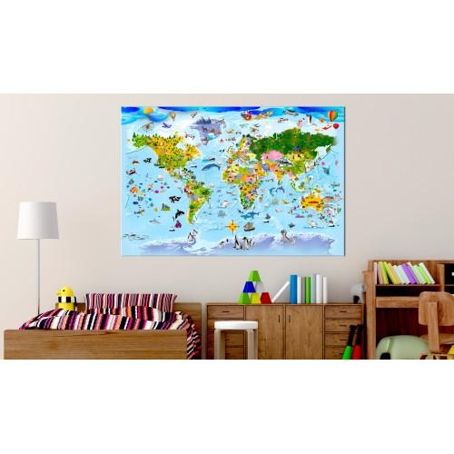 Quadro - Children's Map: Colourful Travels - Quadri e decorazioni