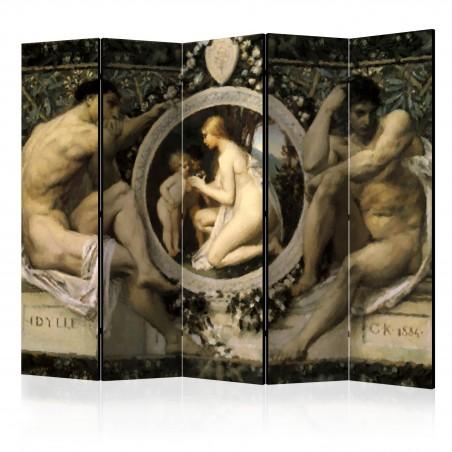 Paravento - Idyll - Gustav Klimt II [Room Dividers] - Quadri e decorazioni