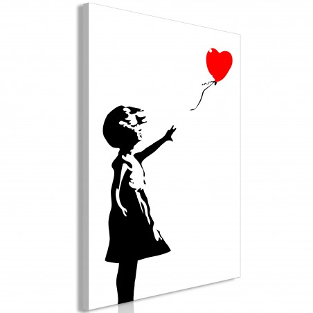 Quadro - Little Girl with a Balloon (1 Part) Vertical - Quadri e decorazioni