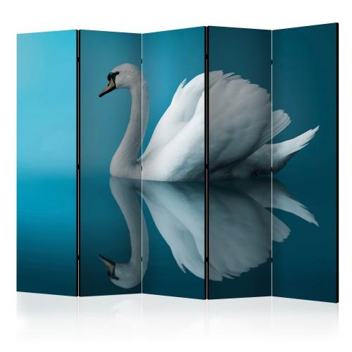 Paravento - swan - reflection II [Room Dividers] - Quadri e decorazioni