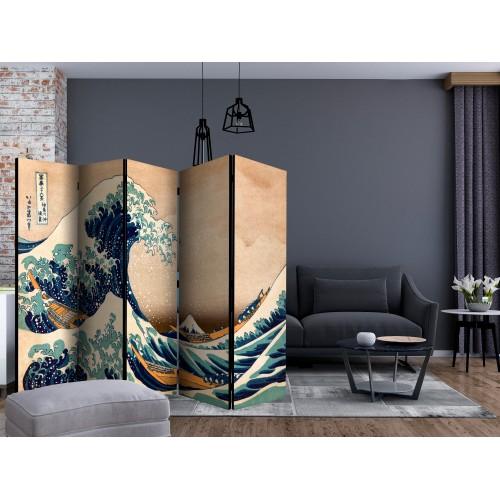 Paravento - Hokusai: The Great Wave off Kanagawa (Reproduction) II [Room Dividers] - Quadri e decorazioni
