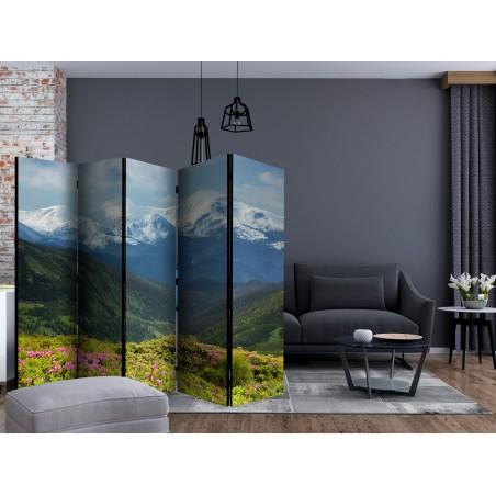Paravento - Spring mountain landscape II [Room Dividers] - Quadri e decorazioni