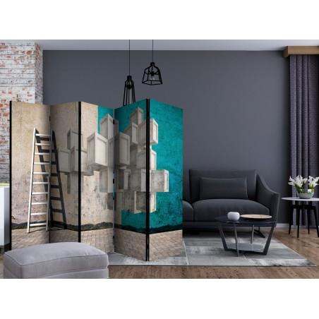 Paravento - Concrete blocks II [Room Dividers] - Quadri e decorazioni