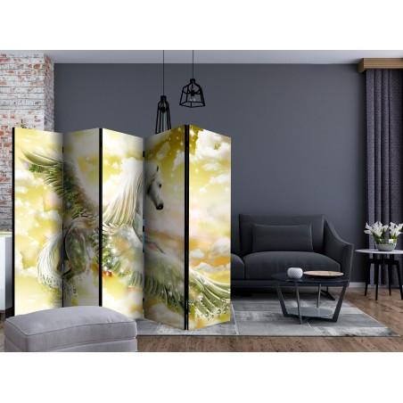 Paravento - Pegasus (Yellow) II [Room Dividers] - Quadri e decorazioni