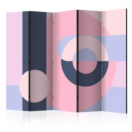 Paravento - Geometric Wreath (Violet) II [Room Dividers] - Quadri e decorazioni