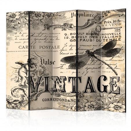 Paravento - Vintage Correspondence II [Room Dividers] - Quadri e decorazioni