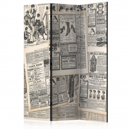 Paravento - Vintage Newspapers [Room Dividers] - Quadri e decorazioni