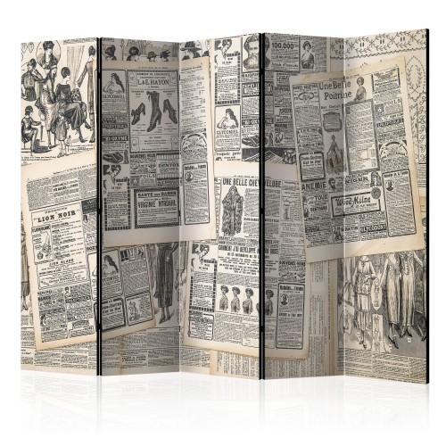 Paravento - Vintage Newspapers II [Room Dividers] - Quadri e decorazioni