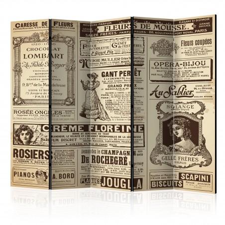 Paravento - Vintage Magazines II [Room Dividers] - Quadri e decorazioni