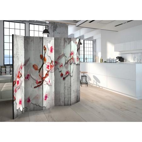 Paravento - Concrete Orchid II [Room Dividers] - Quadri e decorazioni