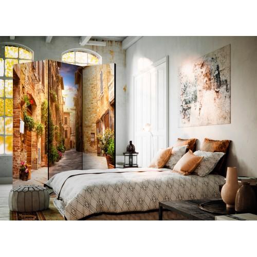 Paravento - Colourful Street in Tuscany [Room Dividers] - Quadri e decorazioni