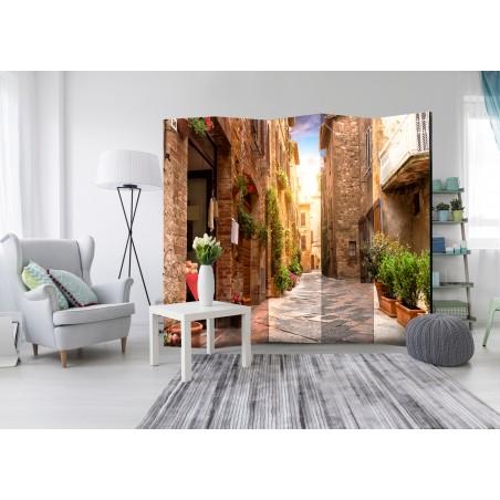 Paravento - Colourful Street in Tuscany II [Room Dividers] - Quadri e decorazioni