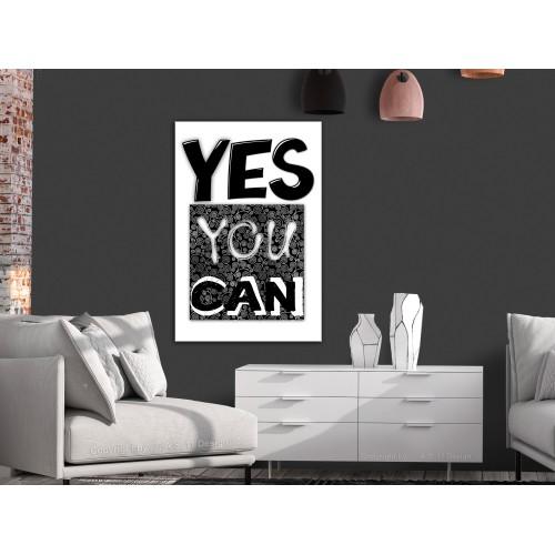 Quadro - Yes You Can (1 Part) Vertical - Quadri e decorazioni