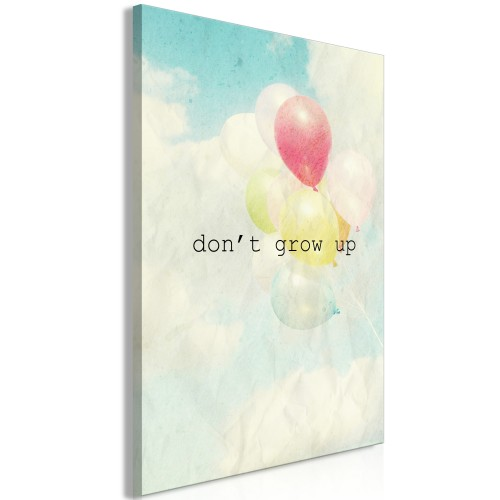 Quadro - Don't Grow Up (1 Part) Vertical - Quadri e decorazioni