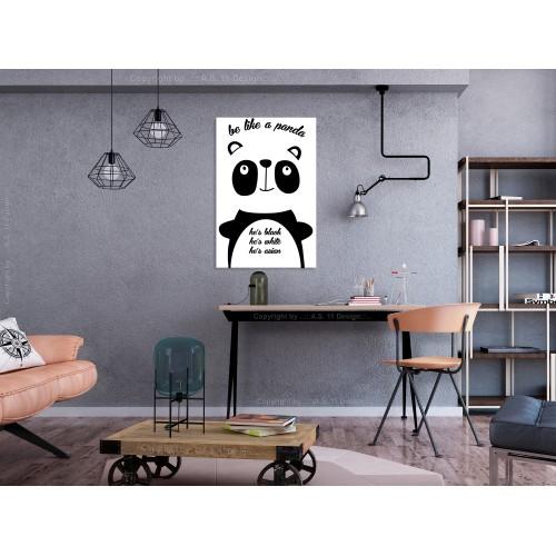 Quadro - Be Like a Panda (1 Part) Vertical - Quadri e decorazioni