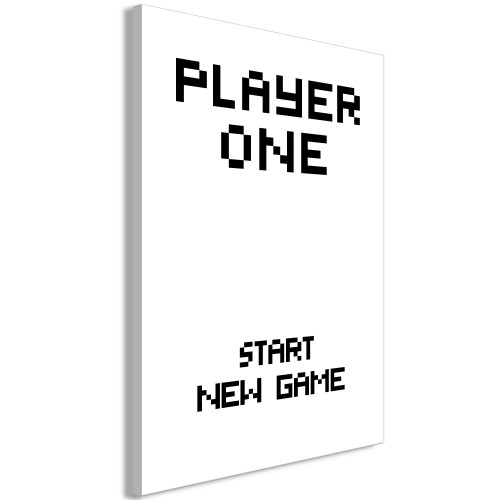 Quadro - Start New Game (1 Pat) Vertical - Quadri e decorazioni